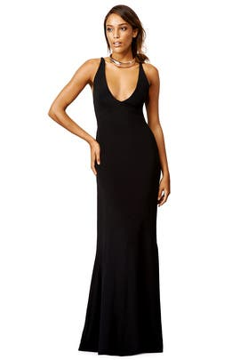 Narciso Rodriguez - Black Jennifer Gown
