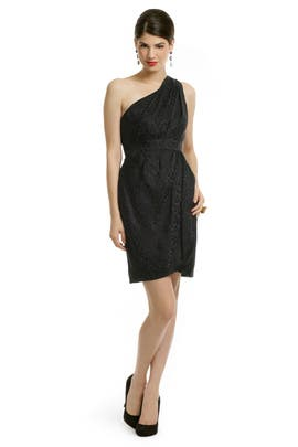 Shoshanna - Black Leopard Dress