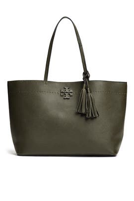 Green McGraw Tote by Tory Burch Accessories
