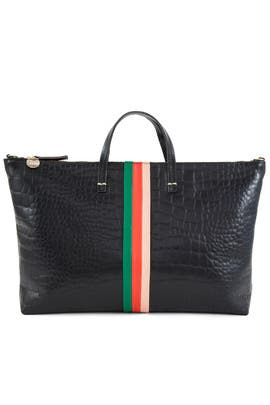 Desert Stripe Attache Tote by Clare V.