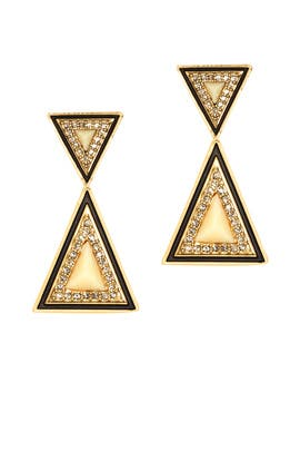 Teepee Earrings by House of Harlow 1960