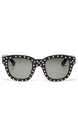 Classic Studded Sunglasses by Saint Laurent