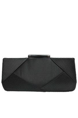 Black Pleated Minaudiere by Sondra Roberts