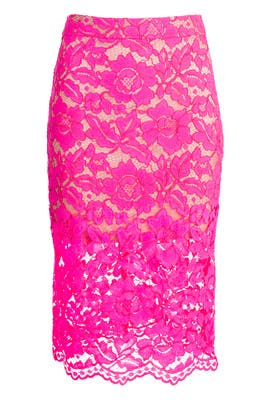 Bretta Pink Lace Skirt by Trina Turk