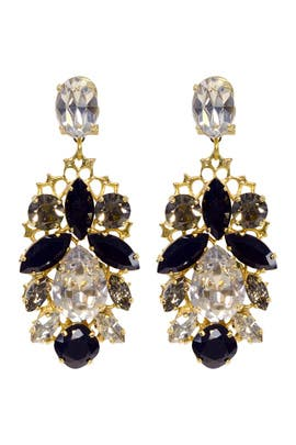 Crystal Leaf Earrings by Anton Heunis