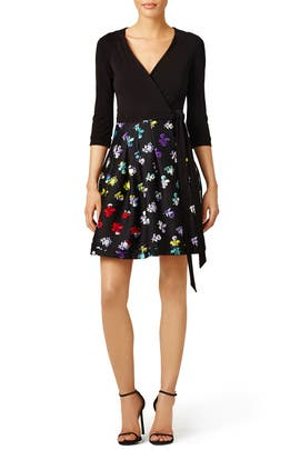 Daisy Buds Wrap Dress by Diane von Furstenberg