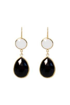 Half Moon Double Drop Earrings by Margaret Elizabeth