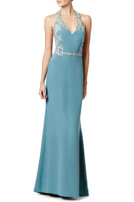 Blue Miranda Gown by Marchesa Notte
