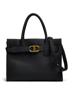 Gemini Link Leather Tote by Tory Burch Accessories
