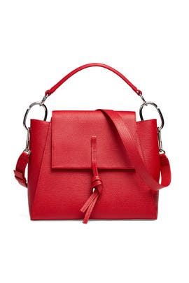 Red Leigh Top Handle Satchel by 3.1 Phillip Lim Handbags