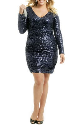 Blue Martini Splash Dress by Badgley Mischka