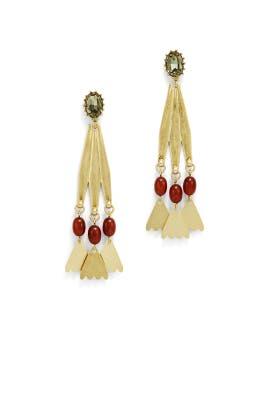 Gold Sierra Statement Earrings by Lulu Frost