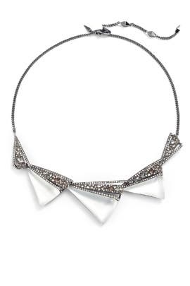 Crystal Encrusted Origami Bib Necklace by Alexis Bittar