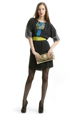 BCBGMAXAZRIA - Carbon Color Chaos Dress