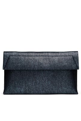 Indigo Karima Clutch by Christian Siriano Handbags