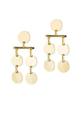 Gold Token Chandelier Earrings by Eddie Borgo