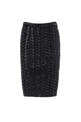Black Chevron Skirt by Hunter Bell