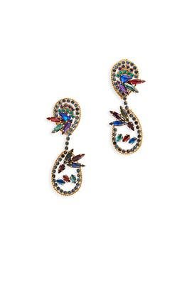 Hyperdrive Jewel Tone Earrings by Erickson Beamon