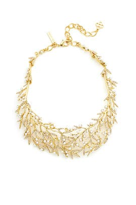 Pearl Bamboo Leaf Necklace by Oscar de la Renta