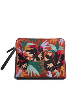 Hibuiscus Floral Safari Clutch by Lizzie Fortunato