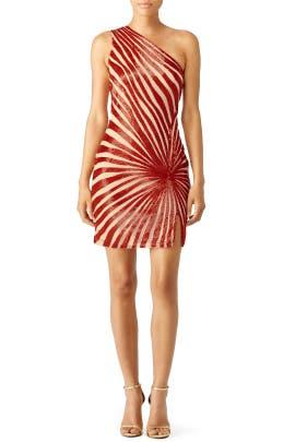 Red Shimmering Jazz Dress