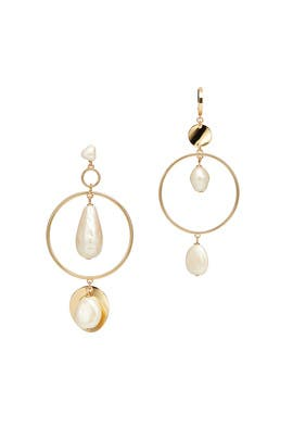 Gold Pearl Asymmetrical Earrings by kate spade new york accessories