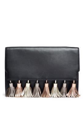 Metallic Tassel Sofia Clutch by Rebecca Minkoff Handbags