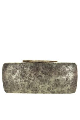 Abstract Gold Metallic Clutch by Sondra Roberts