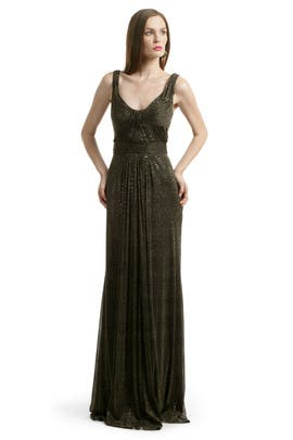 David Meister - Metallic Twisted Gown