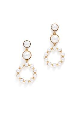 Marge Pearl Earrings by Elizabeth Cole