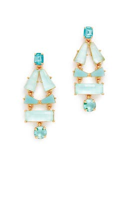 Aqua Geo Earrings by kate spade new york accessories