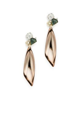 Elegant Gold Earrings by Alexis Bittar