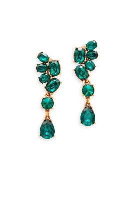 Asymmetrical Earrings by Oscar de la Renta