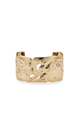 Gold Distressed Cuff by Alexis Bittar