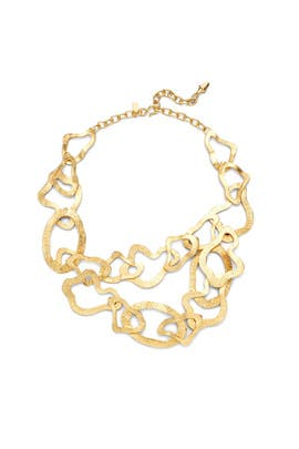 Gold Wavy Link Necklace by Kenneth Jay Lane