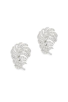 Silver Leaf Earrings by Kenneth Jay Lane