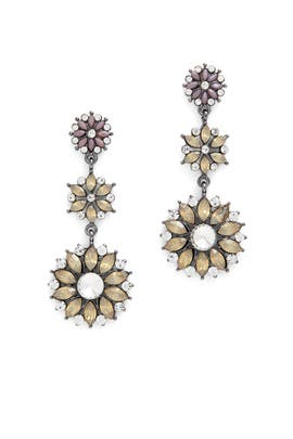 Crystal Floral Drop Earrings by Slate & Willow Accessories
