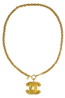 Vintage Chanel CC Pendant Necklace by WGACA Vintage