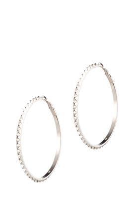 Pyramid Hoops by Eddie Borgo