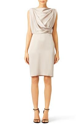Taupe Grecian Draped Dress by Jason Wu