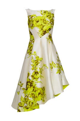 Sliding Floral Dress by Lela Rose