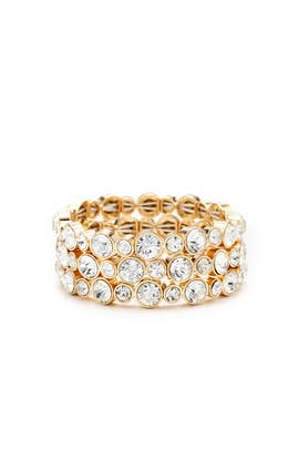 Gold Crystal Triple Bracelet by Slate & Willow Accessories