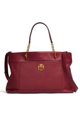 Garnet Chelsea Satchel by Tory Burch Accessories