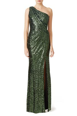 Green Constellation Gown by Badgley Mischka