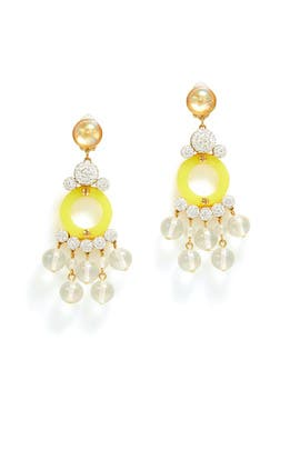 Yellow Boulevard Earrings by Lele Sadoughi