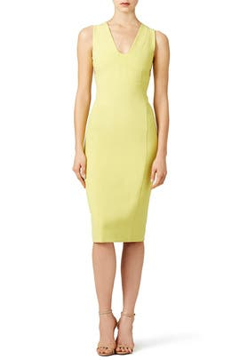 Lime Scuba Crepe Dress by Narciso Rodriguez