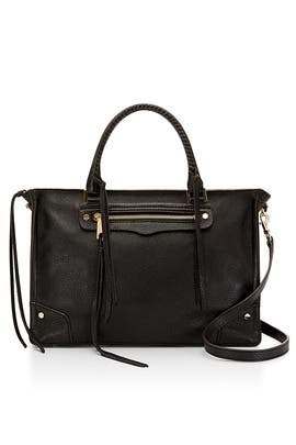 Black Regan Satchel by Rebecca Minkoff Handbags