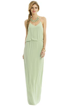 Tibi - Tropical Mint Leaf Gown