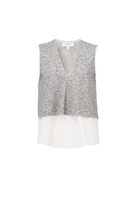 Grey Tiered Top by 10 CROSBY DEREK LAM