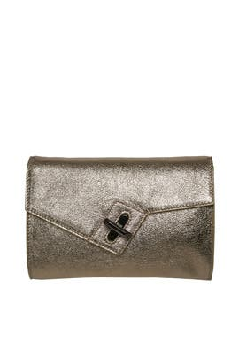 Gold Mini Milck Clutch by ela Handbags